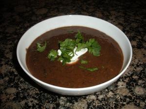 Black Bean + Chorizo Soup