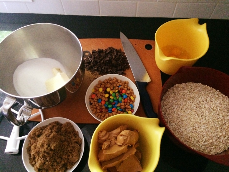 Monster Cookies Mise en Place